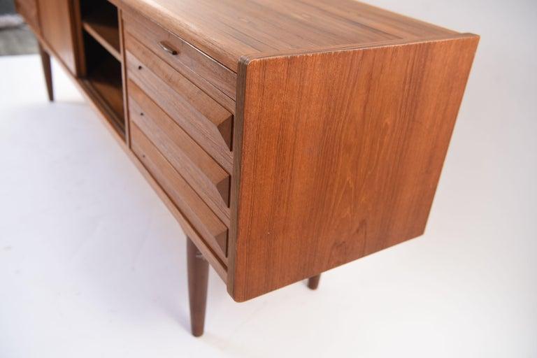 Johannes Andersen Danish Midcentury Teak Sideboard For Sale 13