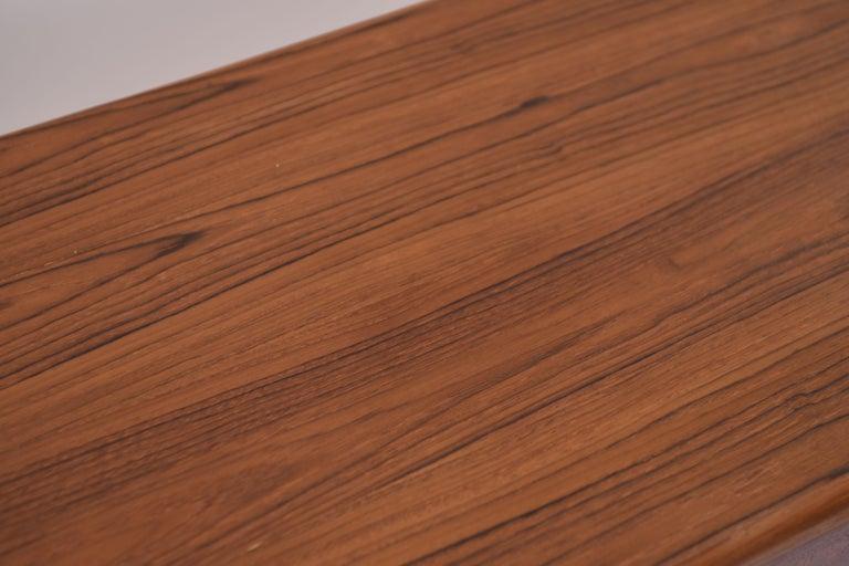 Johannes Andersen Danish Midcentury Teak Sideboard In Good Condition For Sale In Westport, CT