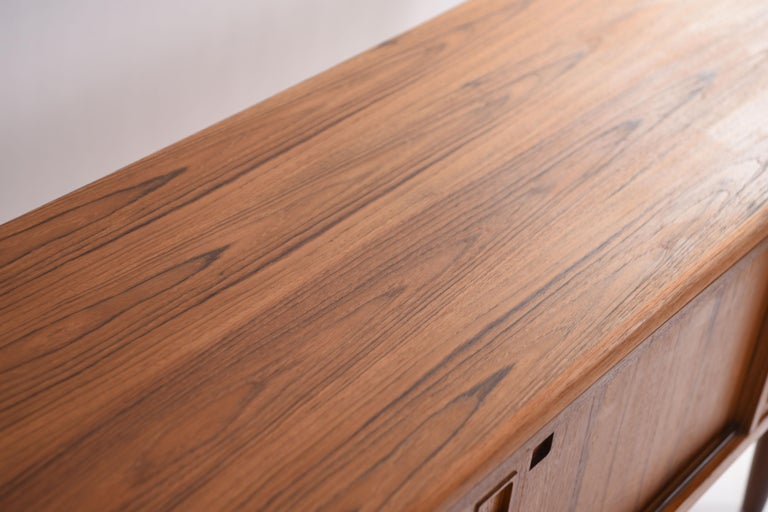 Mid-20th Century Johannes Andersen Danish Midcentury Teak Sideboard For Sale