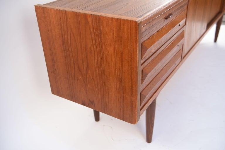 Johannes Andersen Danish Midcentury Teak Sideboard For Sale 4