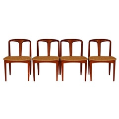 Johannes Andersen Danish Teak Midcentury Juliane Dining Chairs