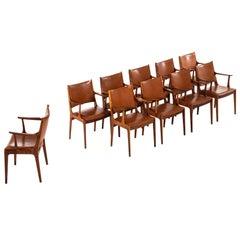 Johannes Andersen Dining Chairs / Armchairs by Uldum Møbelfabrik in Denmark