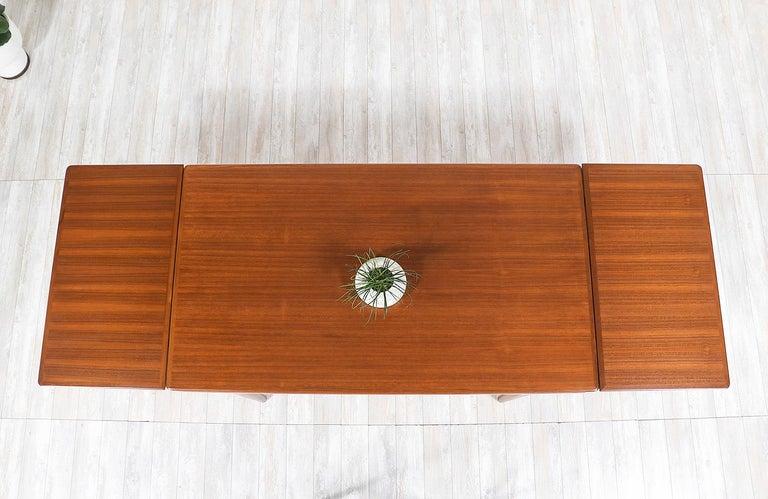 Johannes Andersen Draw Leaf Dining Table for Uldum Møbelfabrik For Sale 2