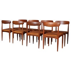Johannes Andersen Eight Dining Chairs