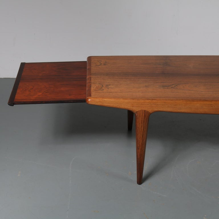 Mid-20th Century Johannes Andersen Extendible Coffee Table for Silkeborg, Denmark, 1960 For Sale