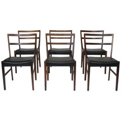 Johannes Andersen for Bernhard Pedersen & Sons Rosewood Dining Chairs - Set of 8