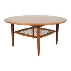 Johannes Andersen for CFC Silkeborg Teak Round Coffee Table, Denmark, 1960s