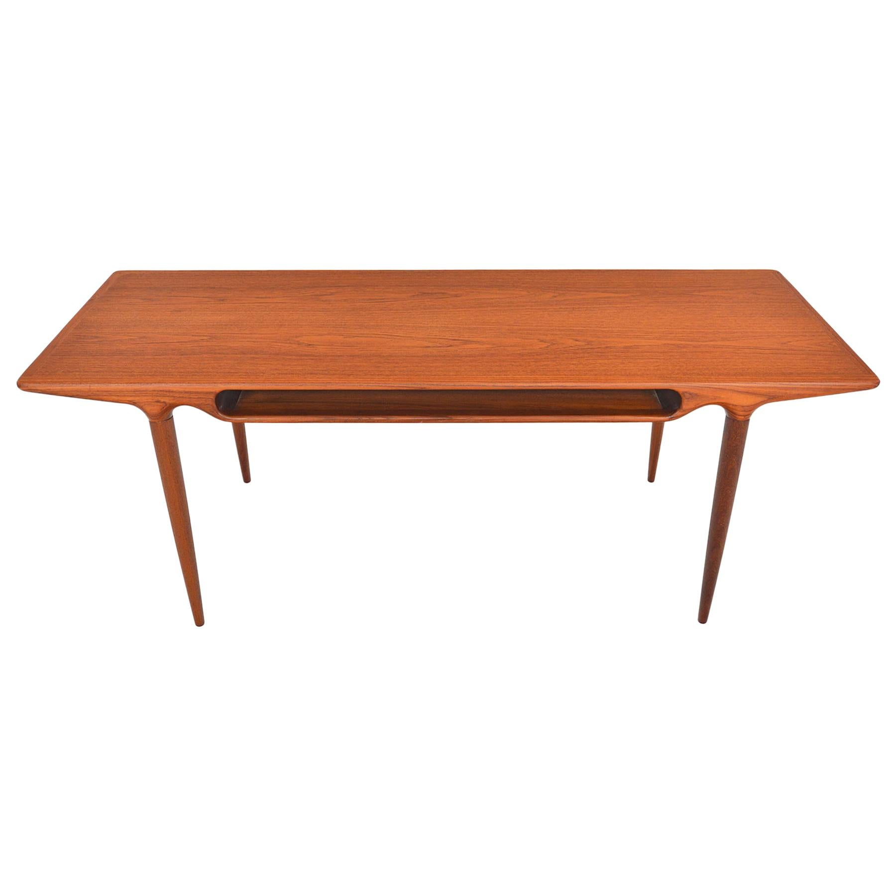 Johannes Andersen for CFC Teak Coffee Table with Storage
