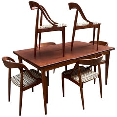 Johannes Andersen for Moreddi Teak Table and Chairs