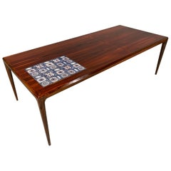 Johannes Andersen for Silkeborg Danish Design Rosewood Coffee and Tile Table