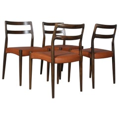 Johannes Andersen Four Dining Chairs, Model Anna