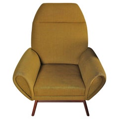 Johannes Andersen Highback Lounge Chair in Chartreuse Wool