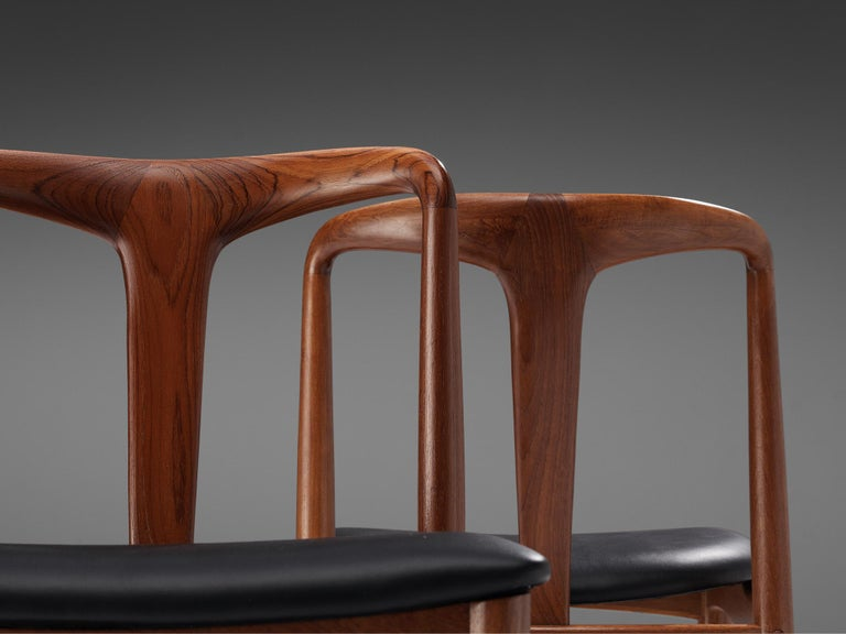 Johannes Andersen 'Juliane' Dining Chairs in Teak For Sale 3