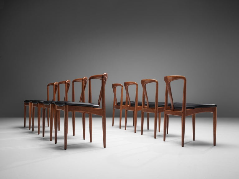 Johannes Andersen 'Juliane' Dining Chairs in Teak For Sale 4