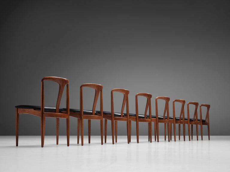 Johannes Andersen 'Juliane' Dining Chairs in Teak For Sale 5