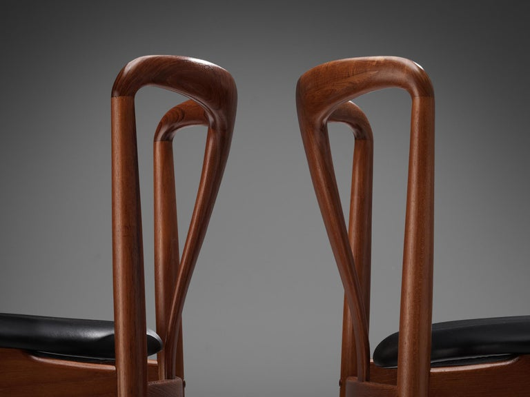 Mid-Century Modern Johannes Andersen 'Juliane' Dining Chairs in Teak For Sale