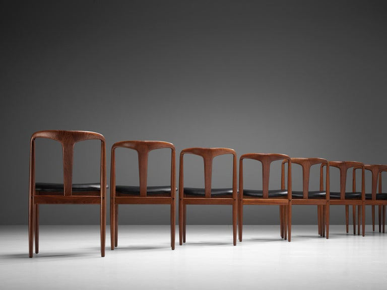 Danish Johannes Andersen 'Juliane' Dining Chairs in Teak For Sale