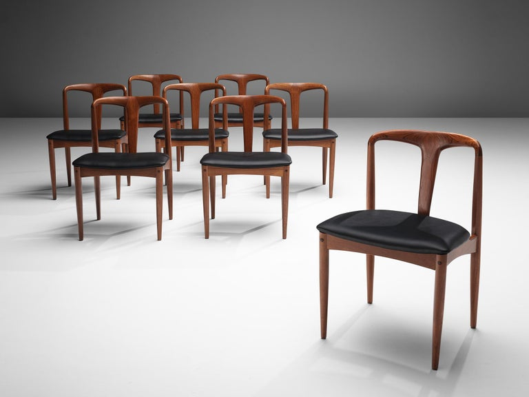 Mid-20th Century Johannes Andersen 'Juliane' Dining Chairs in Teak For Sale