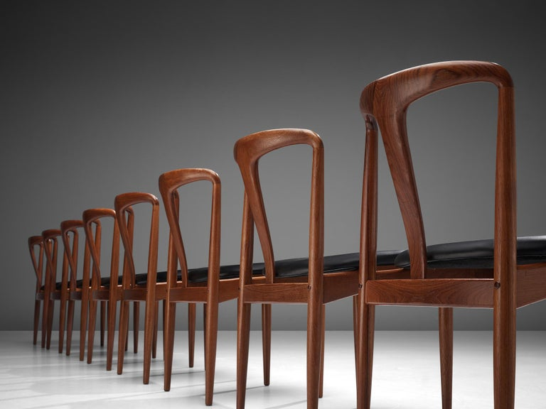Johannes Andersen 'Juliane' Dining Chairs in Teak For Sale 1