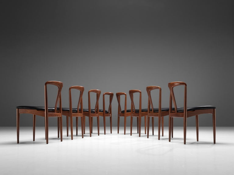 Johannes Andersen 'Juliane' Dining Chairs in Teak For Sale 2