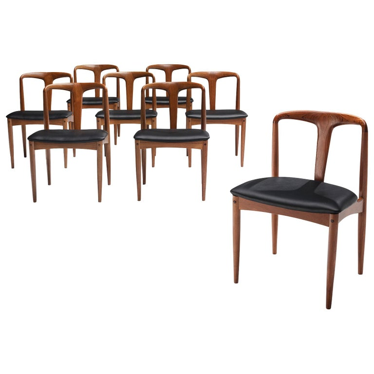 Johannes Andersen 'Juliane' Dining Chairs in Teak For Sale