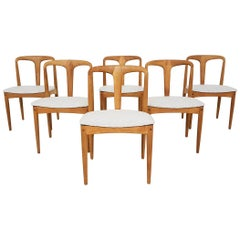 "Johannes Andersen ""Juliane"" Oak Dining Chairs for Uldum Møbelfabrik, Denmark"