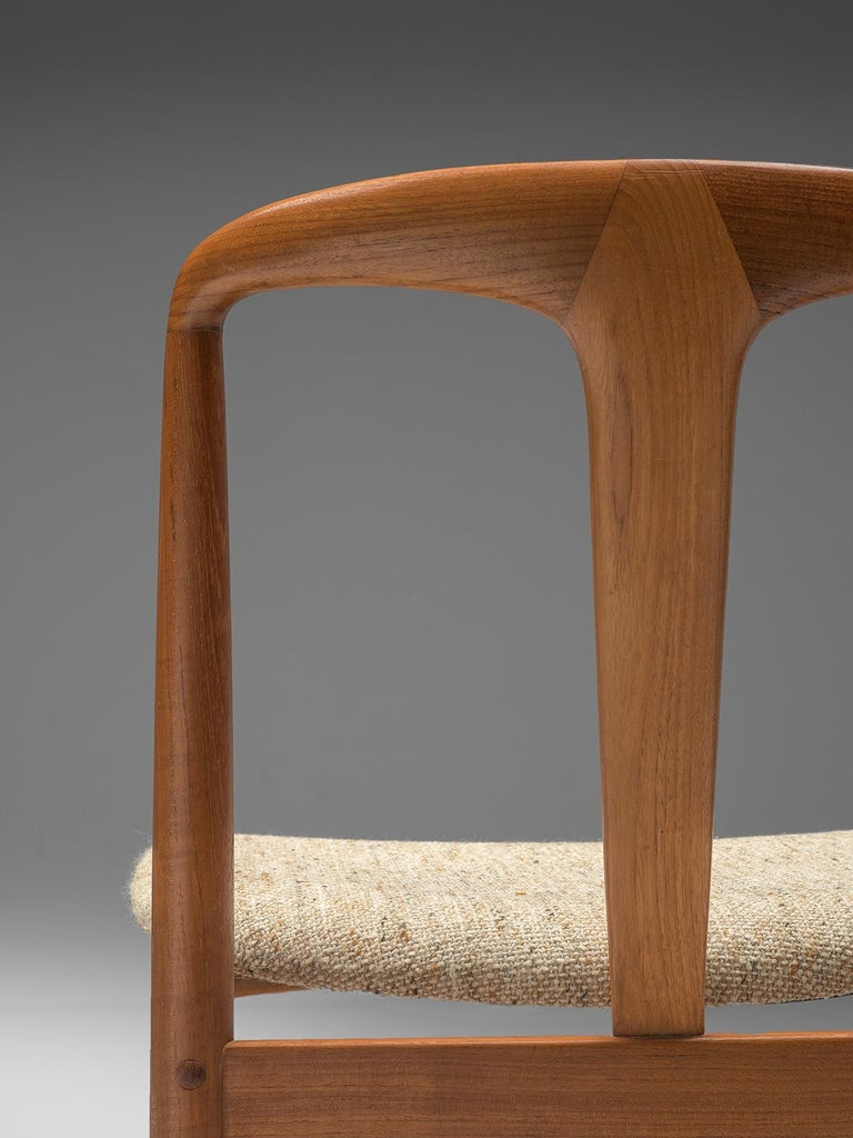 Johannes Andersen 'Juliane' Set of Eight Dining Chairs in Teak For Sale 2