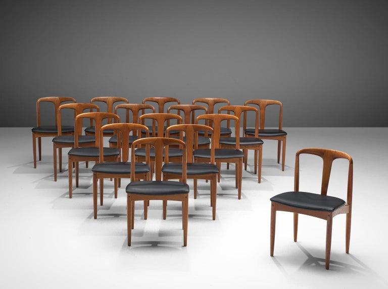 Mid-Century Modern Johannes Andersen Large Set 'Juliane' Dining Chairs in Teak