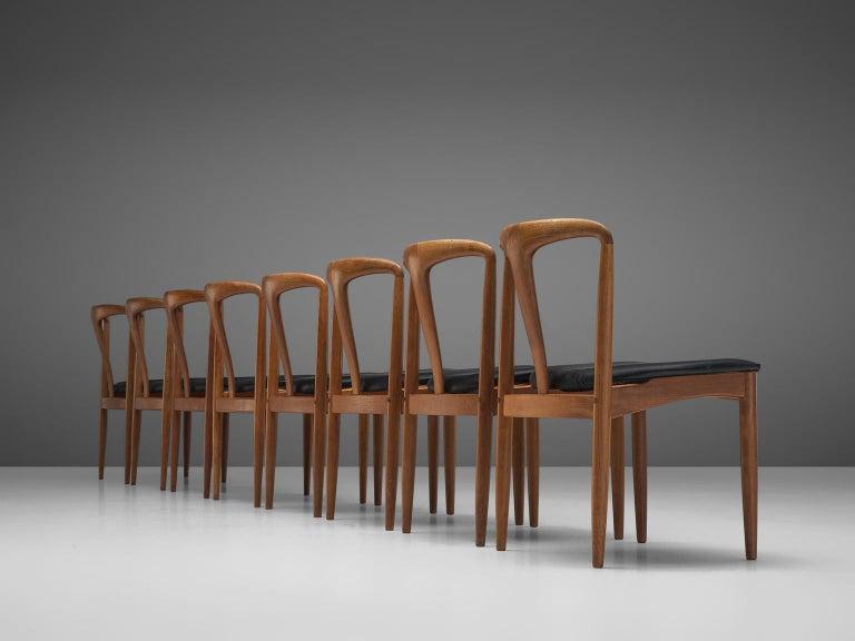 Danish Johannes Andersen Large Set 'Juliane' Dining Chairs in Teak
