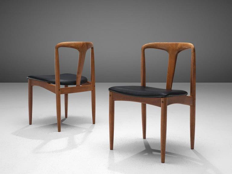Mid-20th Century Johannes Andersen Large Set 'Juliane' Dining Chairs in Teak