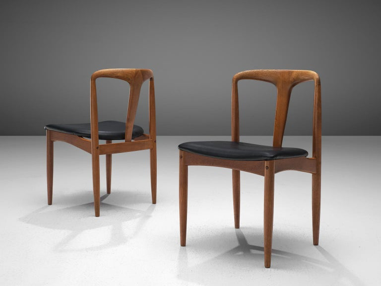 Mid-20th Century Johannes Andersen Large Set 'Juliane' Set Dining Chairs in Teak For Sale