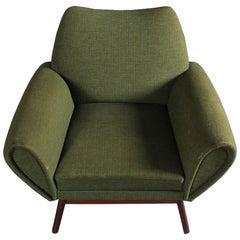 Johannes Andersen Lounge Chair in Green