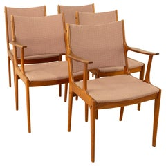 Johannes Andersen for Uldum Mobelfabrik Teak Dining Chairs, Set of 5
