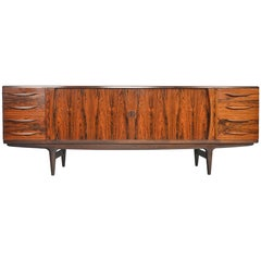 Johannes Andersen Model U15 Tambour Rosewood Credenza