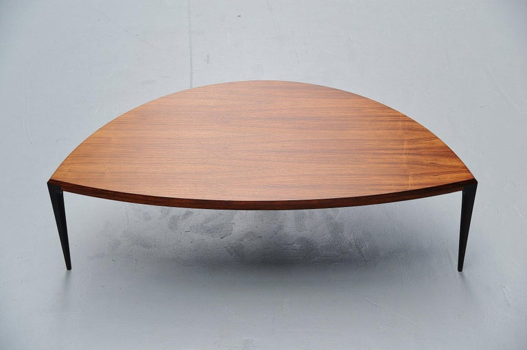 Scandinavian Modern Johannes Andersen Moon Shaped Coffee Table Silkeborg 1960 For Sale