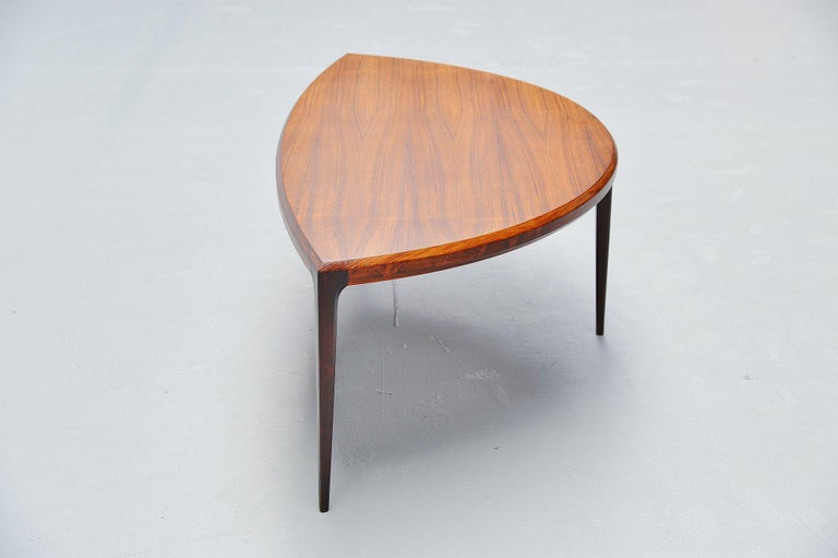 Mid-20th Century Johannes Andersen Moon Shaped Coffee Table Silkeborg 1960 For Sale