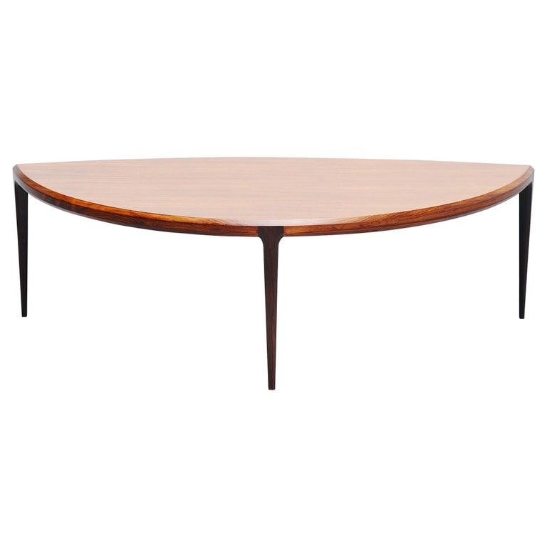Johannes Andersen Moon Shaped Coffee Table Silkeborg 1960 For Sale