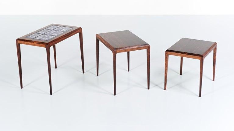 Johannes Andersen, Nesting Tables for CFC Silkeborg, Denmark, circa 1960 2