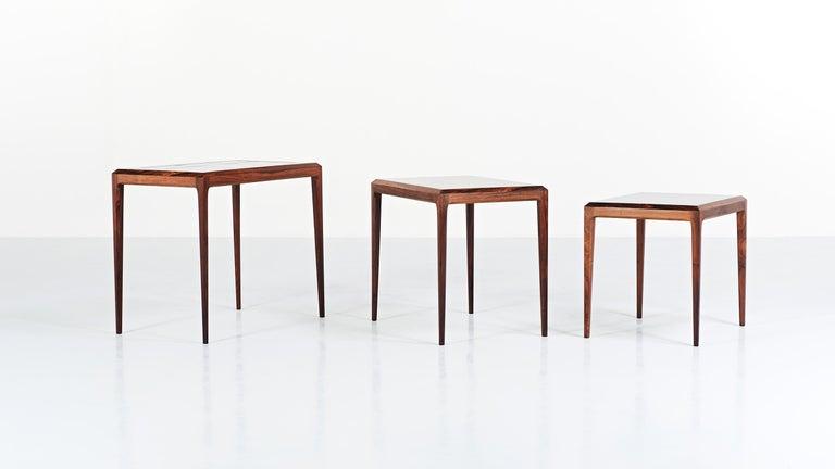 Johannes Andersen, Nesting Tables for CFC Silkeborg, Denmark, circa 1960 3