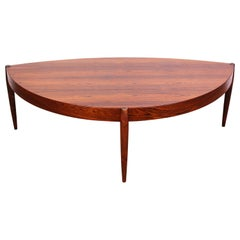Johannes Andersen Rosewood Coffee Table for Tresnum, 1950s