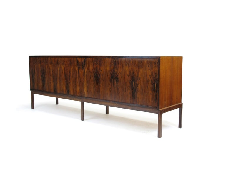 Johannes Andersen Rosewood Credenza 2 In Excellent Condition For Sale In Berkeley, CA