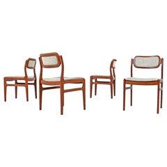 Johannes Andersen Rosewood Dining Chairs for Uldum Møbelfabrik Set of Four
