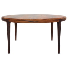 Johannes Andersen Round Coffee, Low Table For CFC Silkeborg, 1960s, Denmark
