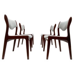 Johannes Andersen Set of 4 Solid Teak Dining Chairs produced by Mahjongg, 1960's