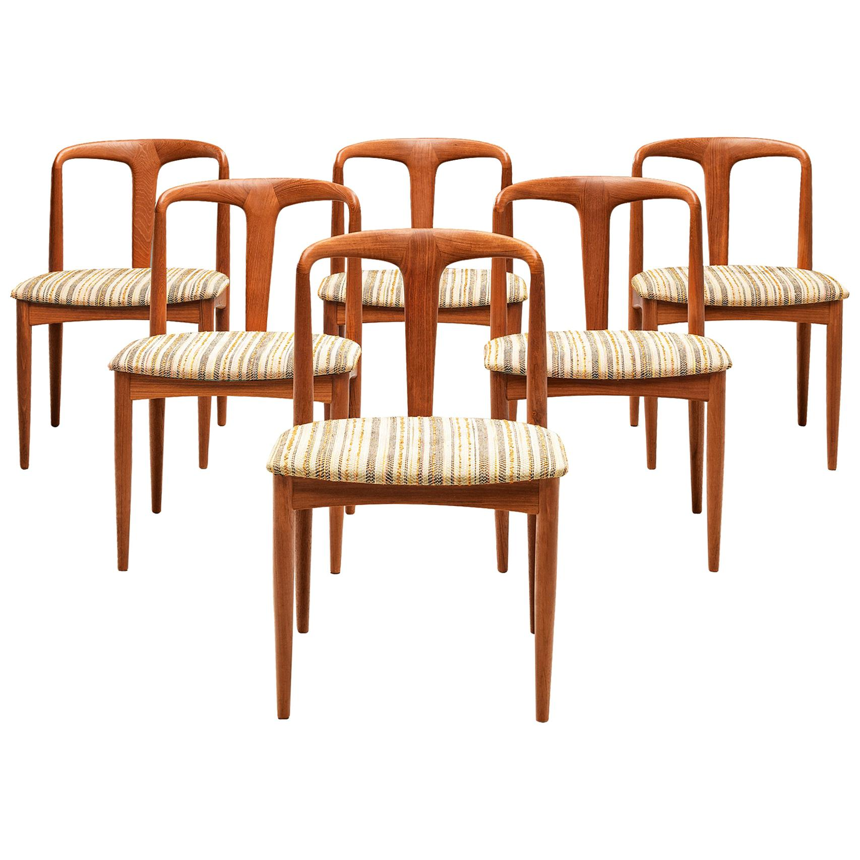 Johannes Andersen Set of 'Juliane' Dining Chairs in Teak