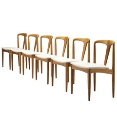 Johannes Andersen Set of Six 'Juliane' Dining Chairs in Teak