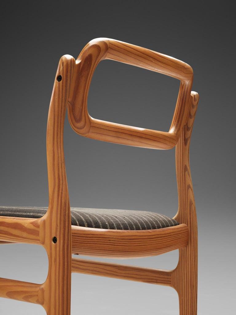 Johannes Andersen Set of Ten Dining Chairs in Oregon Pine For Sale 1
