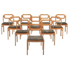 Johannes Andersen Set of Ten Dining Chairs in Oregon Pine