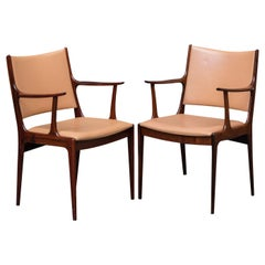 Johannes Andersen Set of Two Refinished Rosewood Armchairs, Inc. Reupholstery