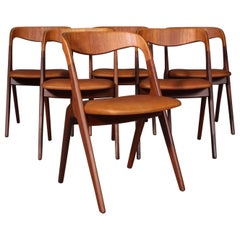 Johannes Andersen Six Dining Chairs